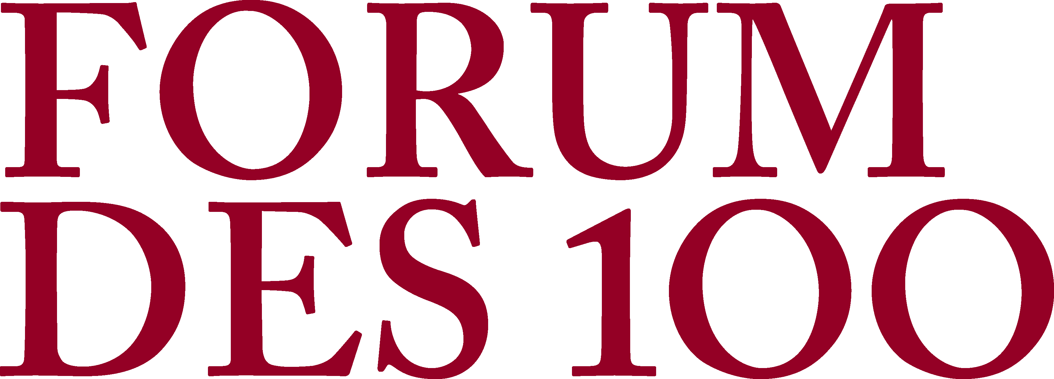 Forum des 100 - Conférence d'ouverture