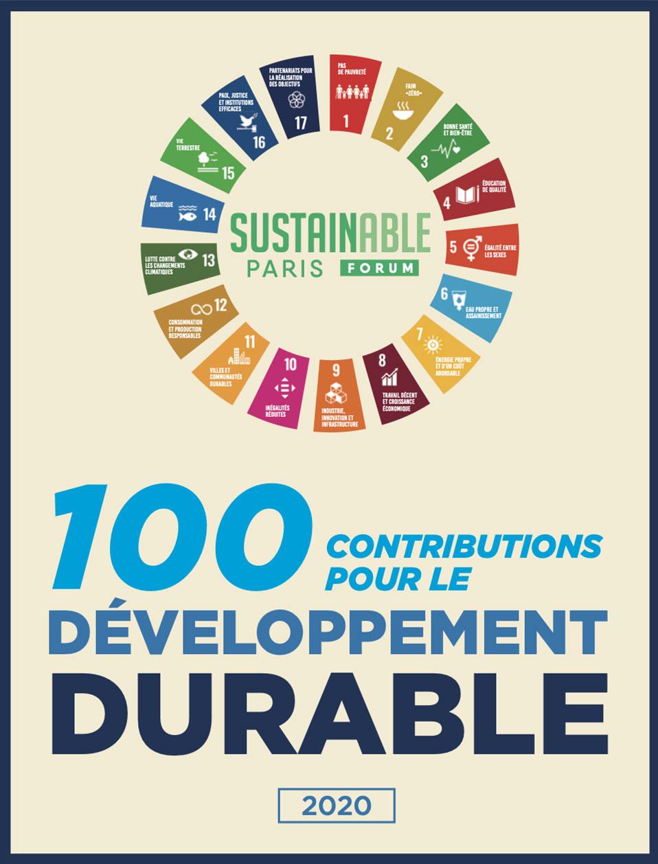 100 contributions pour le dévéloppement durable